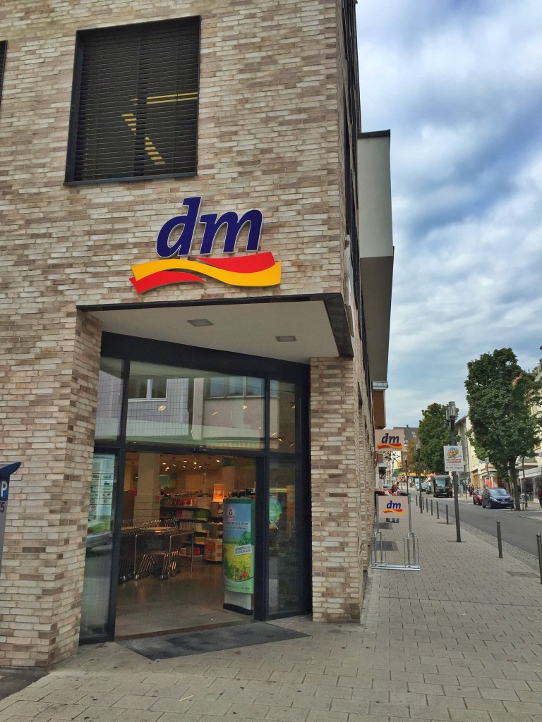 Back on our block on main street is the DM, or Germany's version of a CVS.