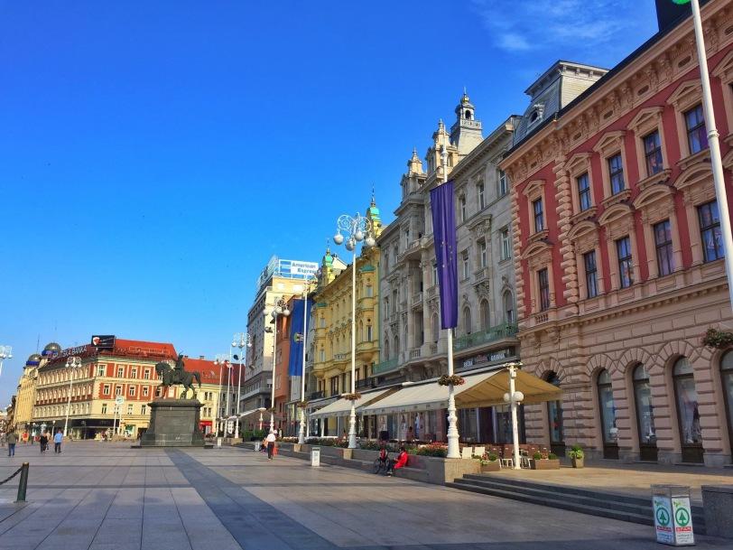 Ban Jelačić Square (the main square in Zagreb)