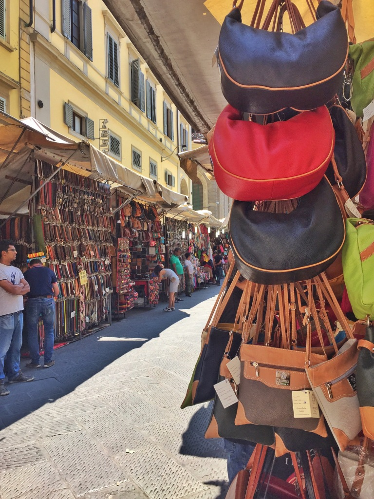 This market is HUGE! Lots and lots of leather everywhere!