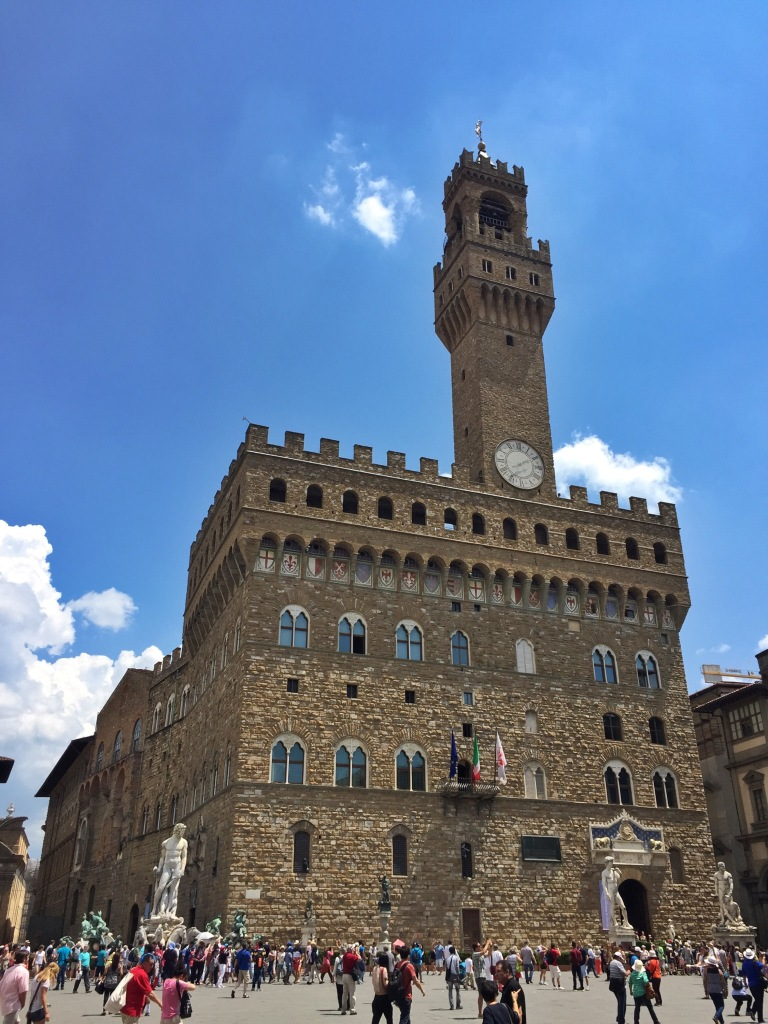 Palazzo Vecchio, with the fake David out front.