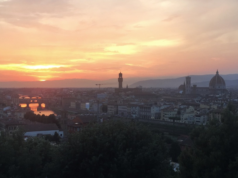 A view not to be missed. Whatever else you do when you visit Florence, you MUST go to Piazzale Michelangelo for the sunset. One of the prettiest things I have ever seen.