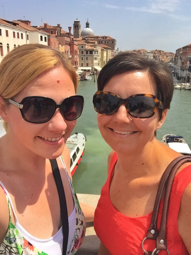 Karyn's first view of Venice - which meant of course, we needed a selfie!