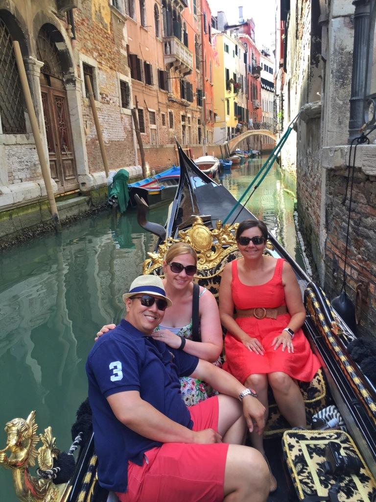 Pre-gondola ride!