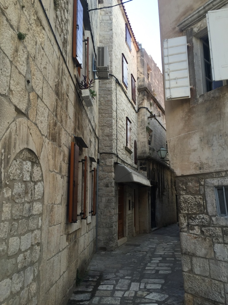 The Trogir streets...no cars allowed!